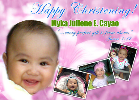 Christening Tarpaulin Layout