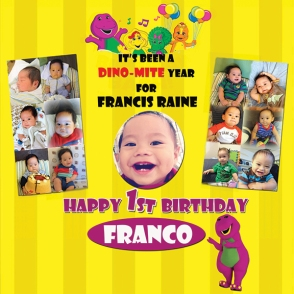 FRANCO 1st bday poster