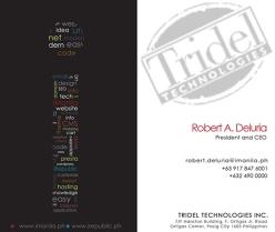 Tridel-Callcards