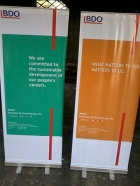 BDO - Tarpaulin Printing with Roll Up Stand