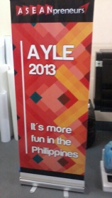 ASEANpreneurs AYLE 2013 - Tarpaulin Printing with Roll Up Stand