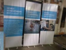UN-OCHA - Tarpaulin Printing with Roll-Up Stand