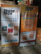 Transtech - Tarpaulin with Roll Up Stand