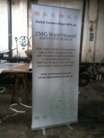 ZMG Ward Howell - Tarpaulin with Roll Up Stand