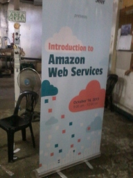 Seer Amazon WEb Services - Tarpaulin Printing with Roll-Up Stand