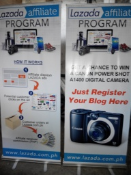 Lazada - Tarpaulin Printing with Roll-Up Stand