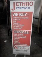 Jetro Jewelry Shop - Polycloth Printing with Pull Up Stand