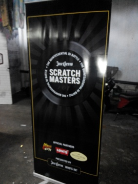 Scratch Masters Jose Cuervo - Tarpaulin with Pull Up Stand
