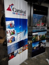 North Star Travel - Tarpaulin Printing with Roll-Up Stand