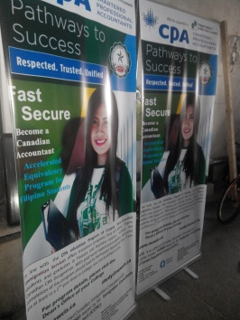 New Canadian Immigration - Tarpaulin Printing with Roll-Up Stand