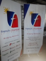 French Chamber - Tarpaulin Printing with Roll-Up Stand