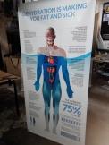 H2O LifeSource - Tarpaulin Print with X-Stand