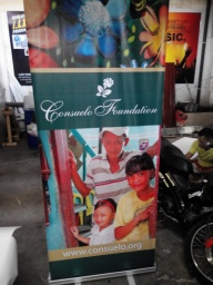 Consuelo Foundation - Tarpaulin Printing with Roll-Up Stand